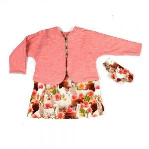 meisje-set-kleurrijk-vestje-jurkje-haarband