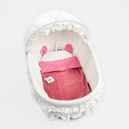 wieg-lakensetje-roze-witte-sterretjes.