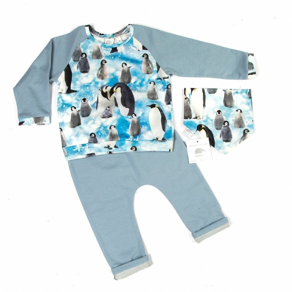 185ae59c7881 Set light blue sweater with digital print - NOËKI - exclusive for ...