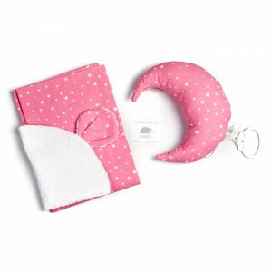 wieg-setje-pink-laken-muziekdoos