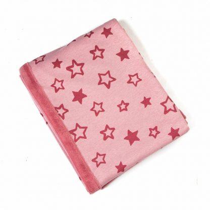fleece-blanket-pink-star-motif