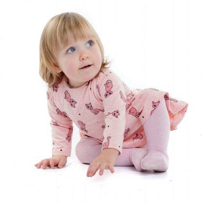 baby-meisje-jurkje-roze-katjes-motief