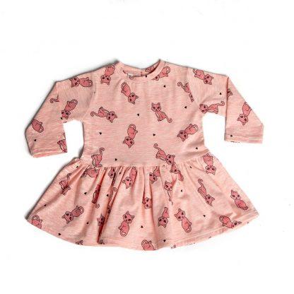 baby-jurkje-roze-katjes-motief