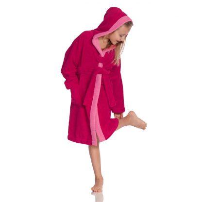 hippe-kinderbadjas-kap-cranberry-kleuren