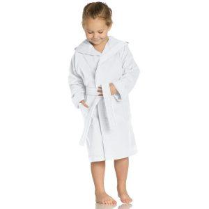 meisje-jongen-kleurrijke-kinderbadjas-kap-wit
