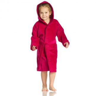 kleurrijke-kinderbadjas-kap-fuchsia kleuren