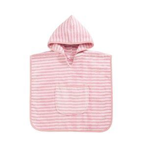 baby-badcape-pink-streepjes-motief