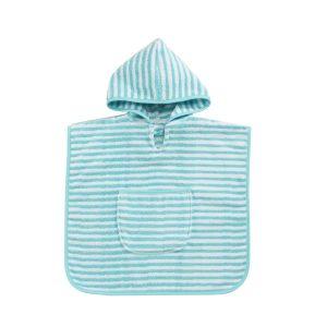 baby-badcape-turqouise-streepjes-motief