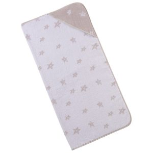 baby-handdoek-kap-beige-sterren-motief