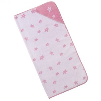 baby-handdoek-kap-roze-sterren-motief