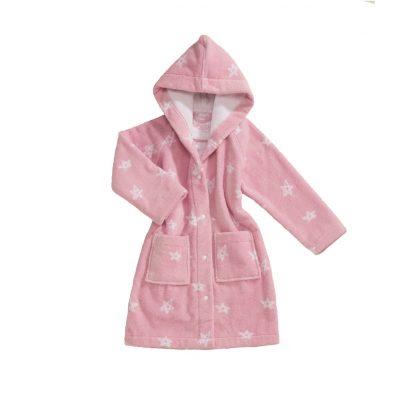baby-badjas-roze-sterren-motief