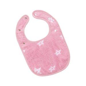 slabbetje-roze-sterren-motief-drukknoppen