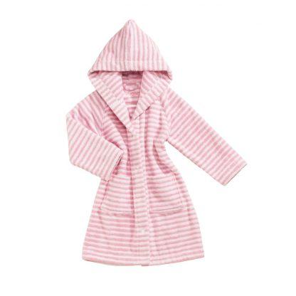 baby-badjas-roze-streepjes-motief