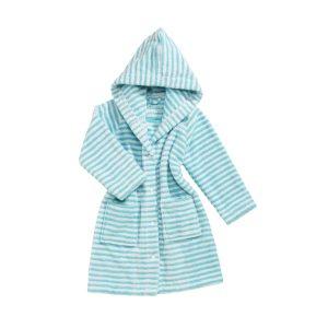 baby-badjas-turquoise-streepjes-motief
