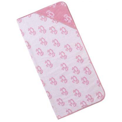 baby-handdoek-kap-roze-schaapjes-motief