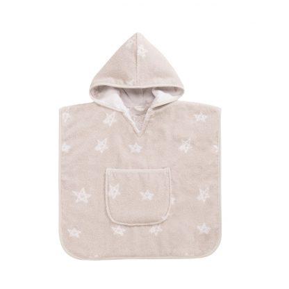 baby-badcape-beige-sterren-motief