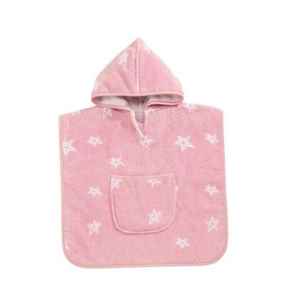 baby-badcape-roze-sterren-motief