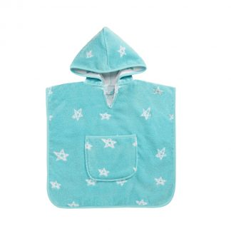 baby-bathcape-turqouise-stars motif