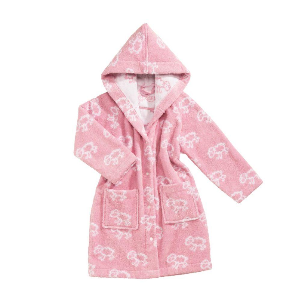 badjasje dreams in zalm roze met schaapjes design