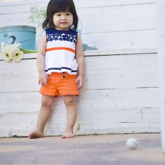 baby-girl-blouse-navy-ribbon-orange-short-orange