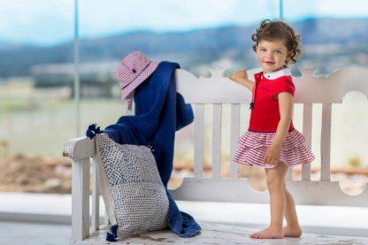 meisje-1-delig-jurkje-bovenstuk-rood-rokje-rood-plissè