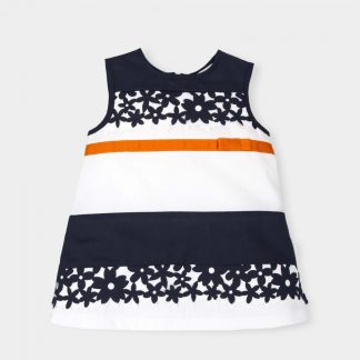 dress-blue-white-orange-ribbon