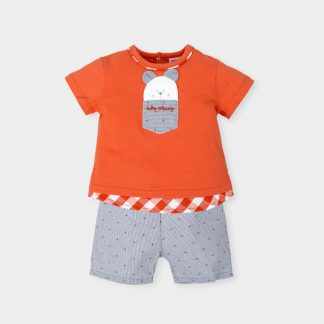 t-shirt-orange-short-gray-motif-orange