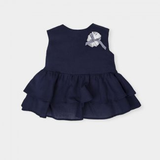 girl-top dark blue-white-rose