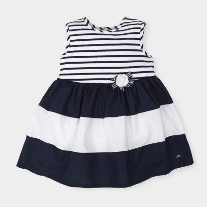jurkje-marine-blauw-wit-zonder-mouwen
