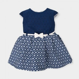 dress-navy-blue-ton-sur-ton-relief