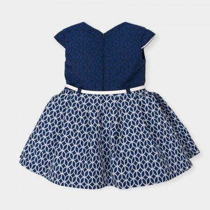 jurkje-marineblauw-ton-sur-ton-relief