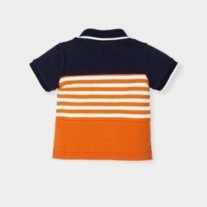 jongen-polo-orange-donderblauw-wit